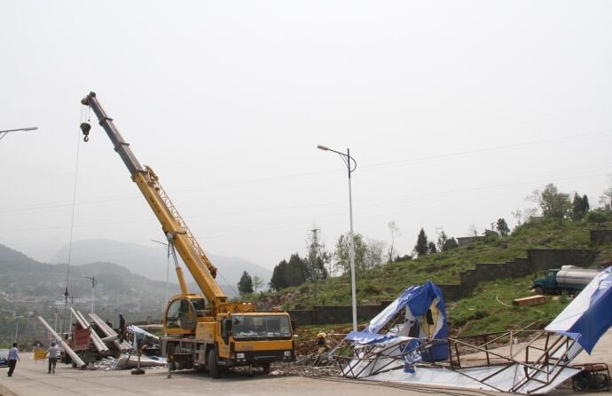 上海履带吊移植电线杆
